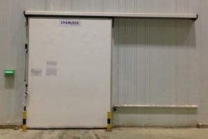 Thi công cửa trượt kho lạnh CHILBLOCK tại kho lạnh ETC